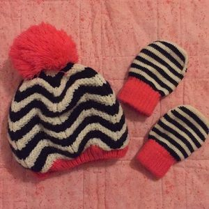 Toddler Hat & Mittens Set